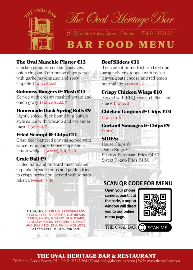 Oval Bar Menu V2